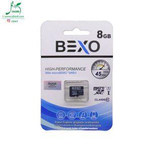 کارت حافظه microSDHC Bexo با ظرفیت 8 گیگ کلاس 10 استاندارد UHS-I